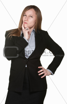 Doubtful Business Woman