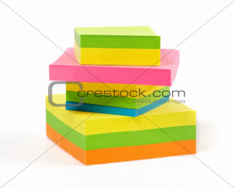 Stack of colorful Sticky Notes
