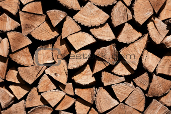 Chopped fire wood