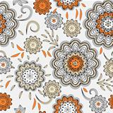vector seamless abstract doodle floral pattern