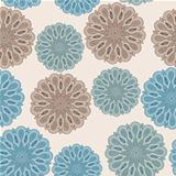 vector seamless floral  pattern with bizarre flowers