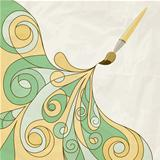 vector concept cartoon brush painting abstract background on cru