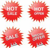 Sale web and print elements