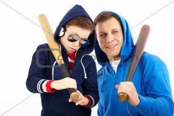 Guys with bats
