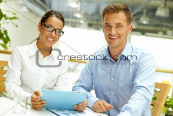 Portrait of modern business