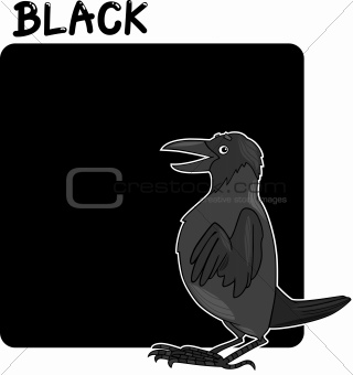 Color Black and Crow Cartoon