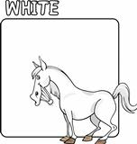 Color White and Horse Cartoon