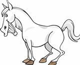 Cartoon Gray Horse