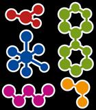 vector abstract molecule icon set