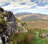 Landscape of Moll&#39;s Gap in Ireland