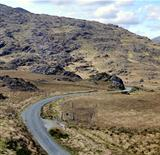 Landscape of Moll's Gap in Ireland