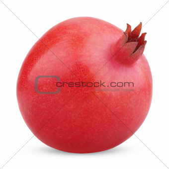 Single pomegranate fruit