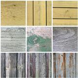 collection of old wooden planks texture