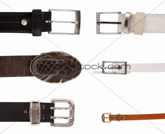Six different buckles