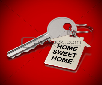 home sweet home red background