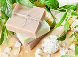 Stack of Natural Herbal Soap