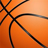 Close-up of a Basketball.