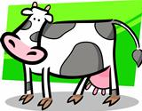 cartoon doodle of farm cow
