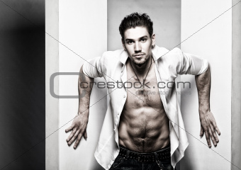 an attractive young man_46