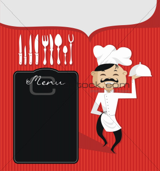 Culinary Background with Chef