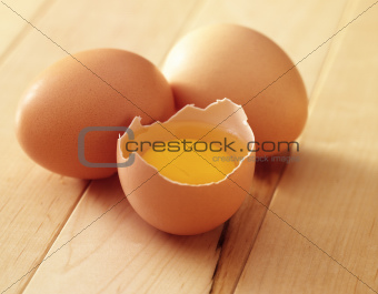 three eggs one broken