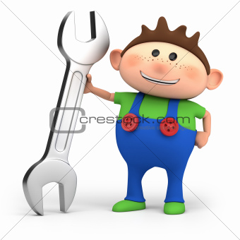 boy with wrench
