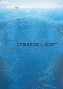 Ocean life background