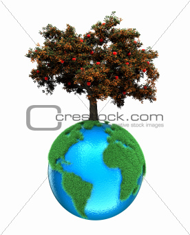 Planet with a tree