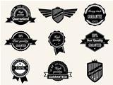 Retro vintage Premium Quality and Guarantee Labels