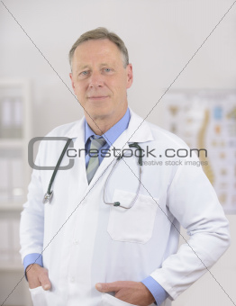 Portait of a mature doctor