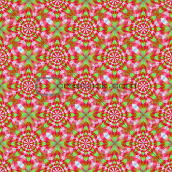 Green and Red Whirling Dervish