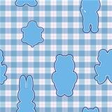 Blue applique in the shape of animal