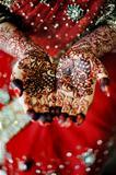 Indian bride's hand