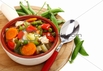 Soup of the summer vegetables.