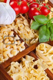 Pasta varieties with specific seasoning