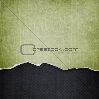 riped vintage paper on grunge background
