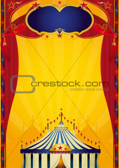 Beautiful circus poster