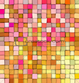 abstract 3d gradient backdrop cubes in happy fruity colors
