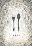 Art Restaurant Menu Concept Design. Vector.