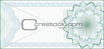 Elegant Guilloche Background for Gift Certificate, Coupon or Ban