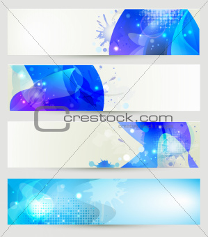 Creative abstract banner collection