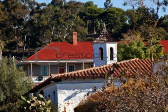 Old San Diego Town Roofs Cupola Casa de Estudillo California