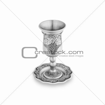 Silver jewish glass isolated