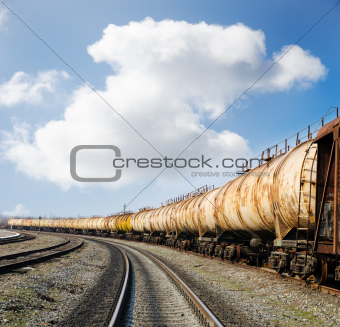 old rusty train wagons