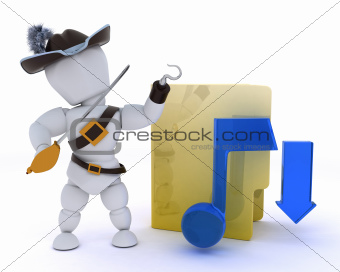pirate depicting illegal music download