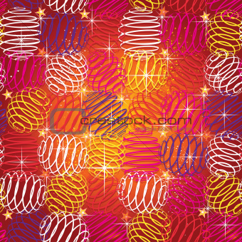 seamless texture of bright festive