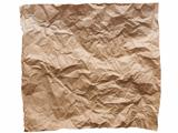crumpled brown paper