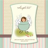 romantic baby girl shower card