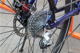Rear mountain bike wheel detail