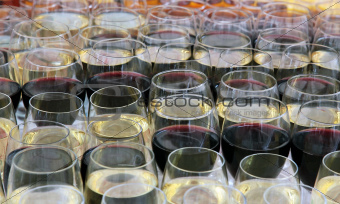 wine glasses with wine